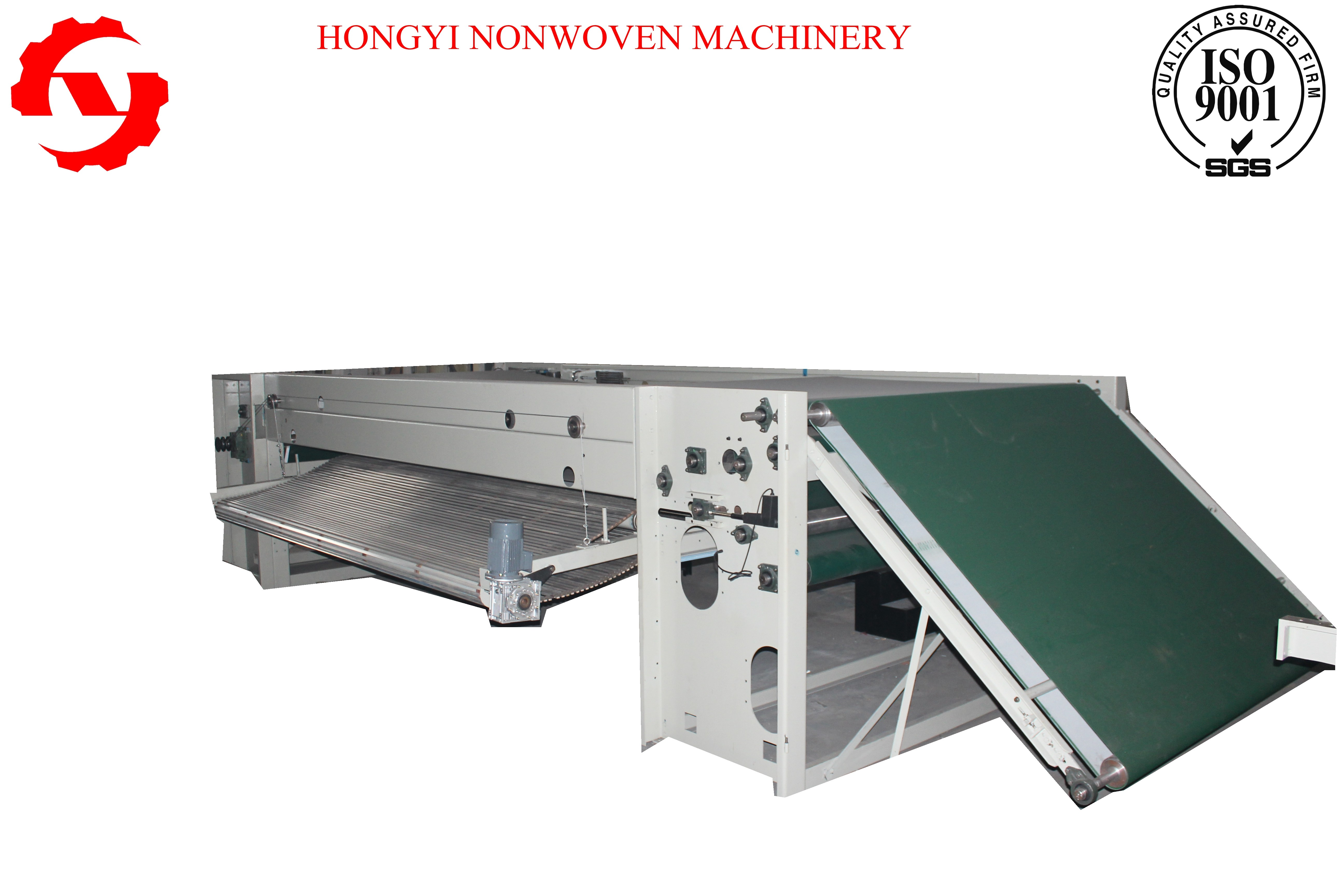 Thermal Bond Nonwoven Fabric  Cross Lapper Machine , Automatic Fabric Spreading Machine