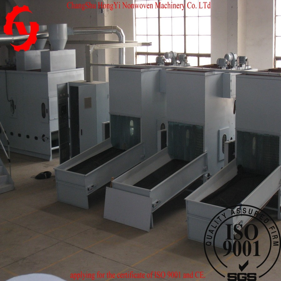 Auto Bale Opener Machine , 1100mm Nonwoven Fabric Machine For Pillow Flling