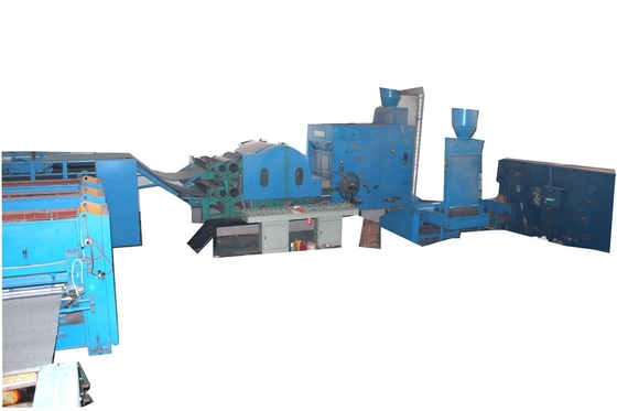 China High Capacity Soft Polyester Wadding Production Line / Felt Making Machine For Nonwoven factory