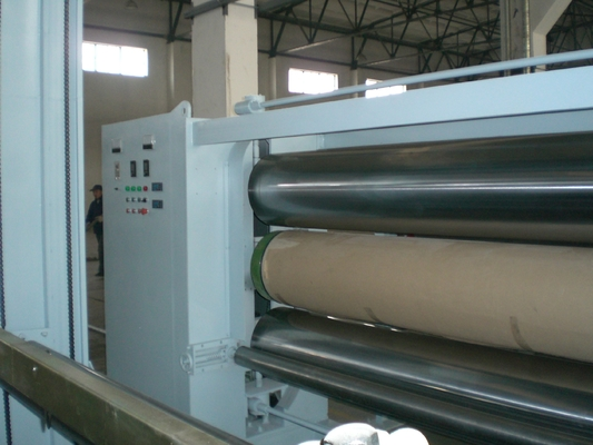 Professional 5.5 M Fabric Three Roll Calender Machine , Nonwoven Fabric Making Machine